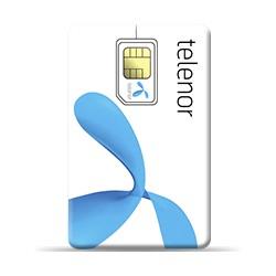 Telenor telematikkort kontantkort inkl 100kr